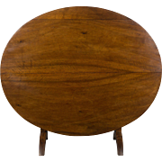 19th c. French Tilt Top Oval Table