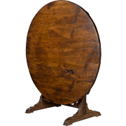 19th c. French Wine Tasting Table or Tilt Top Table