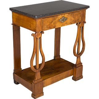 19th c. French Empire Marble Top Console