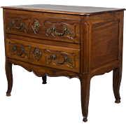 19th c. Louis XV Style Walnut Commode