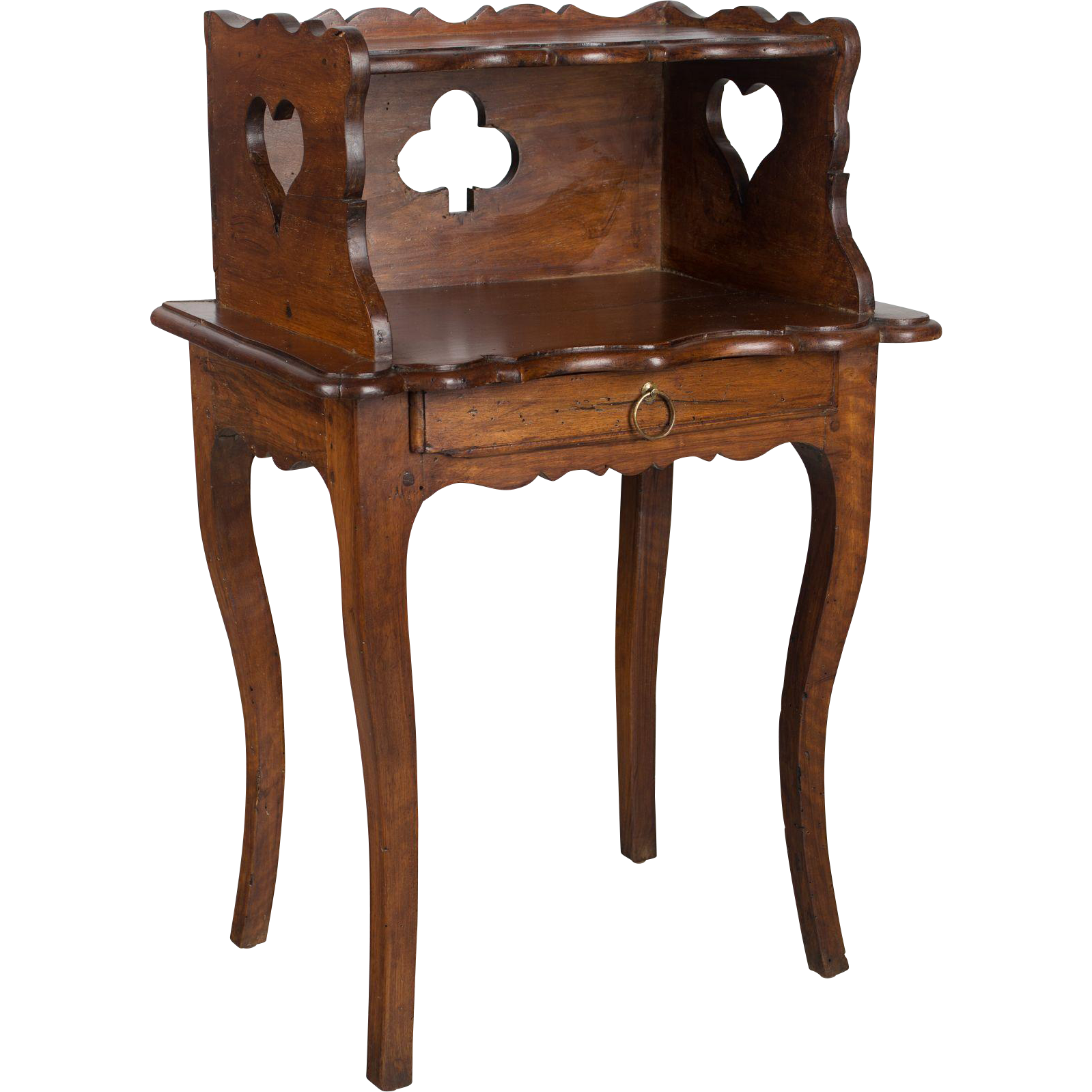 18th c louis xv side table from ofleury on ruby lane for Table de chevet louis xv