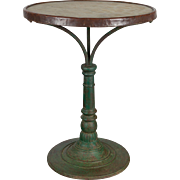 19th c. French Cast Iron Bistro Table