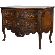 18th c. Louis XV Serpentine Front Commode