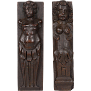 Two Italian Carved Walnut Figures