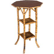 English Bamboo Side Table