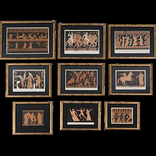 Set of Nine 19th Century French Prints