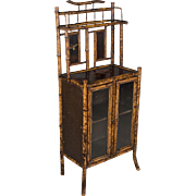 19th c. English Bamboo Cabinet