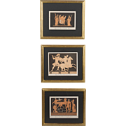 Set of Three 19th c. Classical Greek Prints