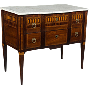 18th c. Louis XVI Marquetry Commode