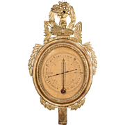 18th c. French Louis XVI Barometer / Thermometer