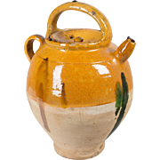 French Terracotta Glazed Vinaigrier