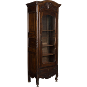 Louis XV Style Bonnetière or Display Cabinet
