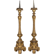 Pair of 18th c. French Altar Candlesticks