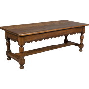 19th c. Country French Oak Bench