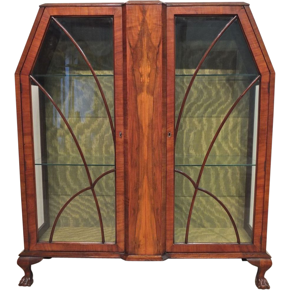art deco display cabinet or vitrine from ofleury on ruby lane. Black Bedroom Furniture Sets. Home Design Ideas