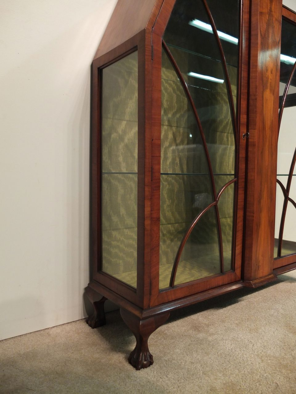 Art deco display cabinet or vitrine from ofleury on ruby lane for Sideboard vitrine