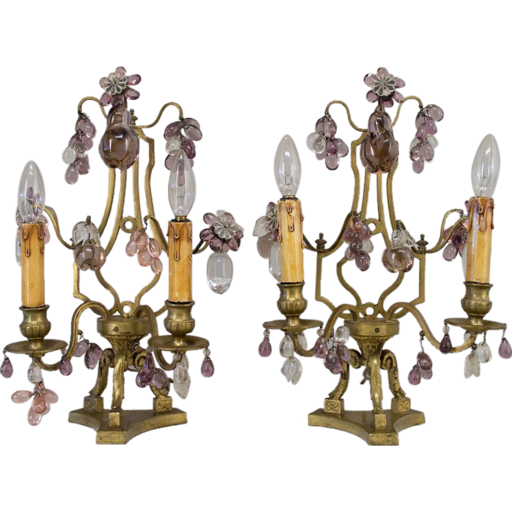 Pair of 19th c. French Girandoles