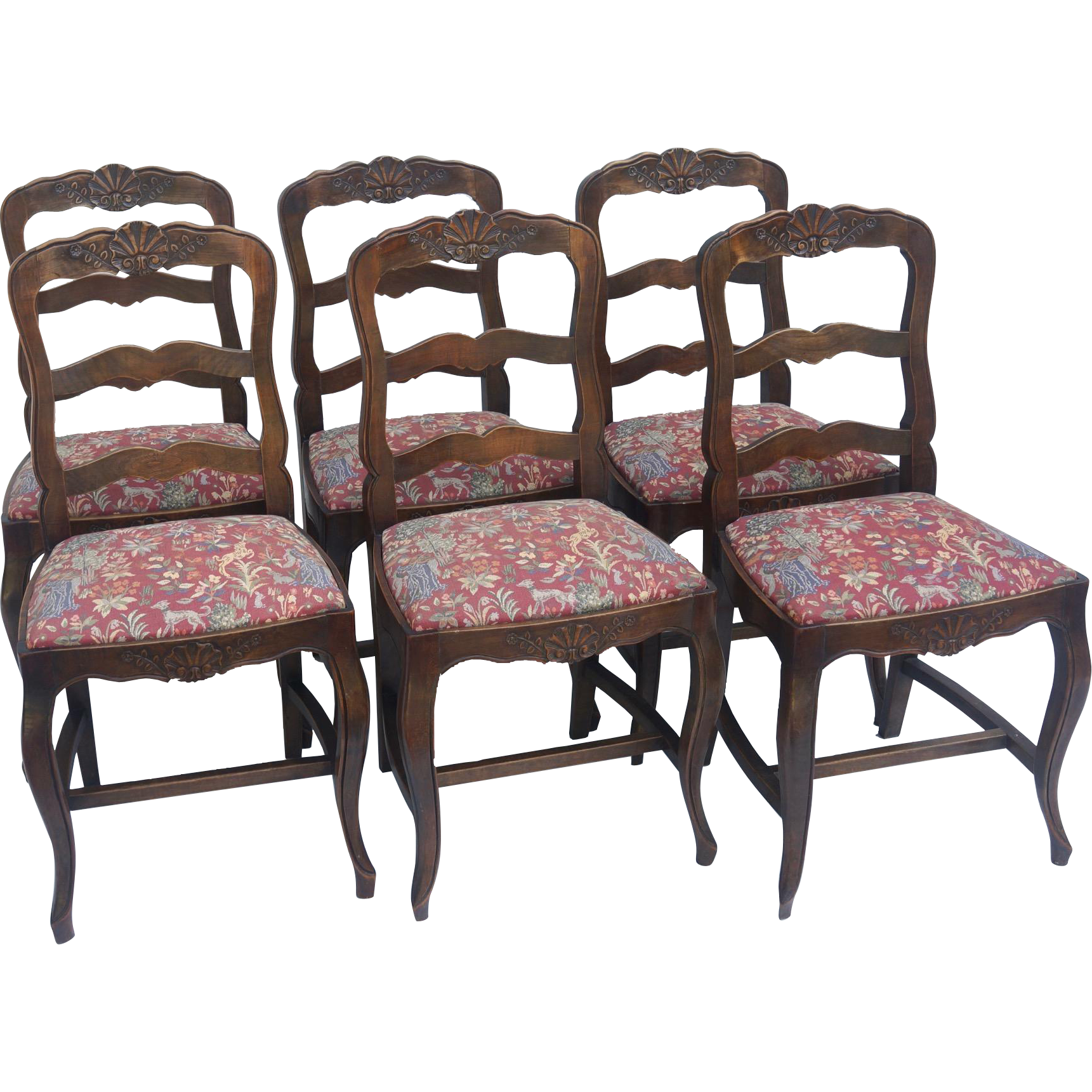 Set of 6 Country French Dining Chairs