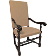 19th French Louis XIII Style Fauteuil or Arm Chair