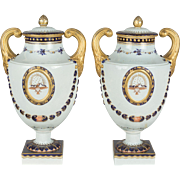 Pair of Mottahedeh Porcelain Urns