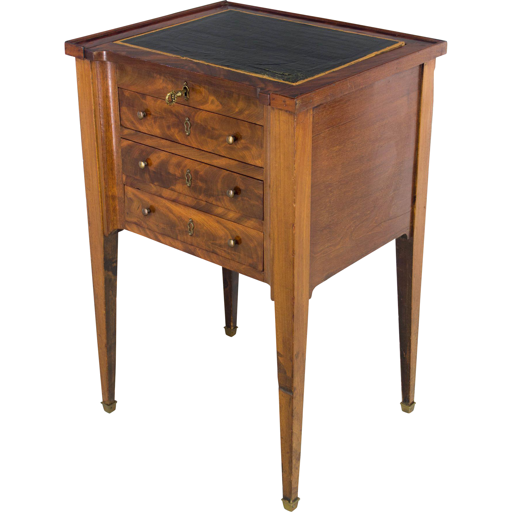 19th c. Louis XVI Style Mahogany Side Table