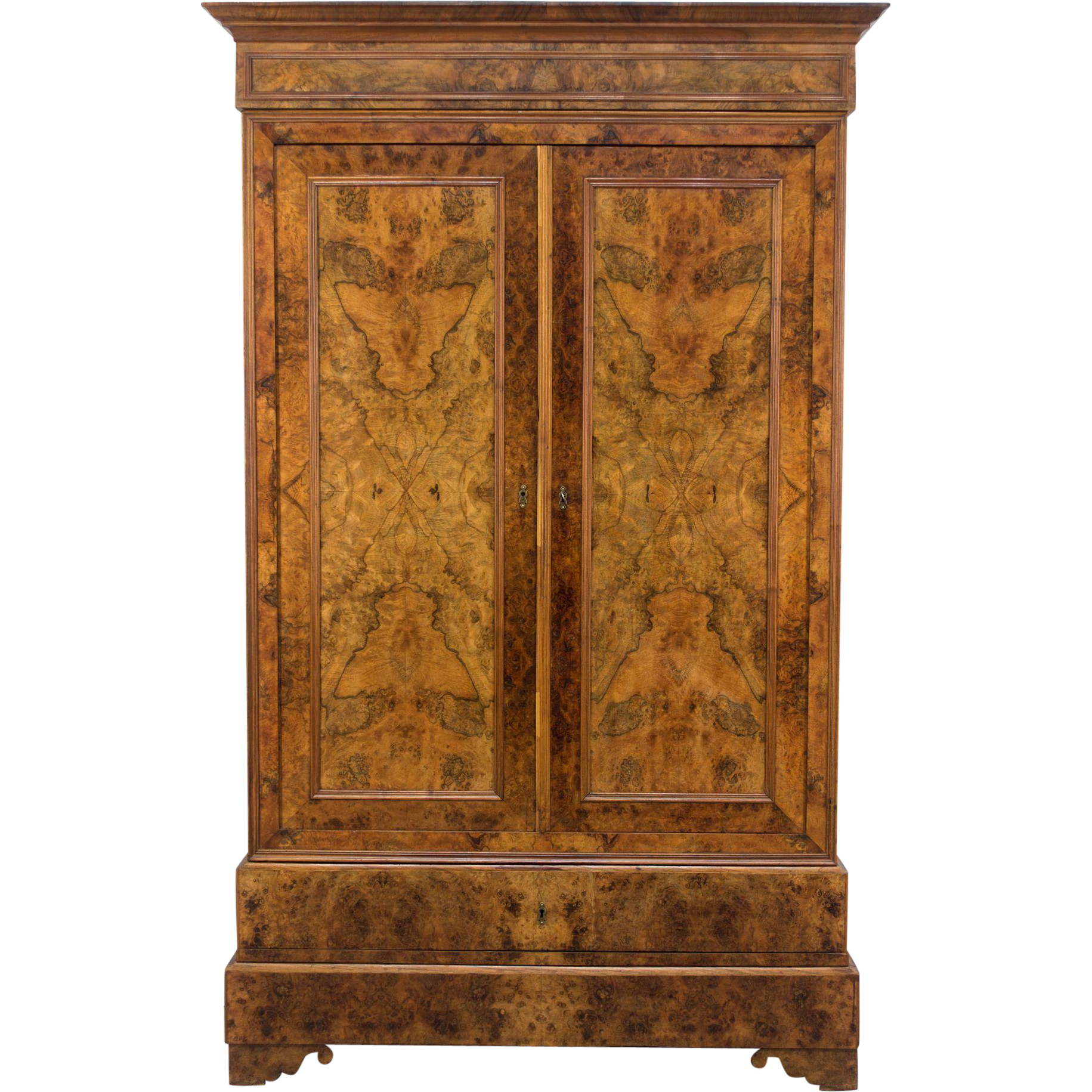 19th c louis philippe armoire sold on ruby lane. Black Bedroom Furniture Sets. Home Design Ideas