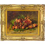 19th c. French Strawberry Painting