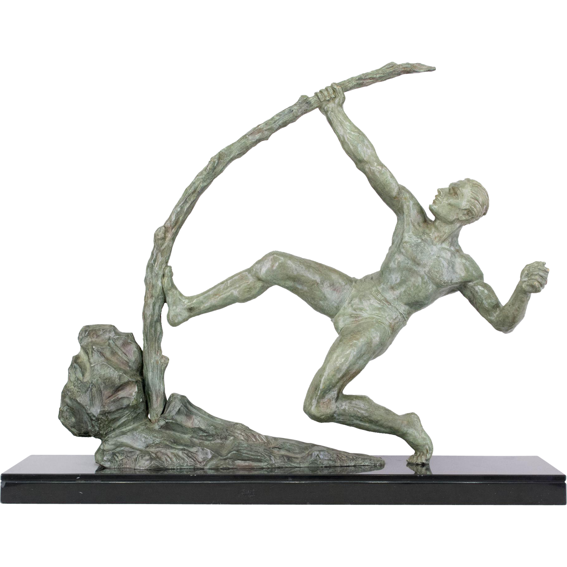 "French Bronze Sculpture entitled ""Le Bender"""
