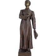 19th c. French Bronze of a Young Priest