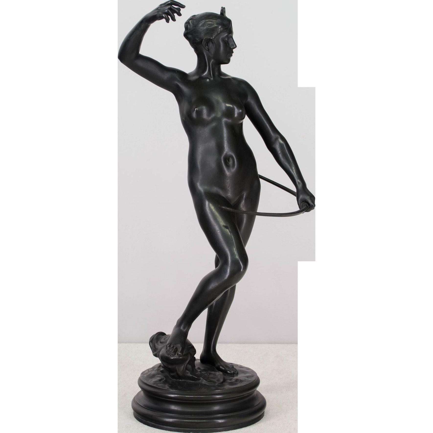 19th c. Bronze of Diana the Huntress