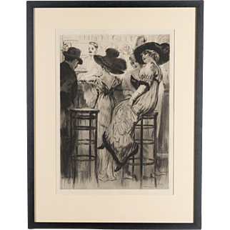 French Etching by Lobel-Riche