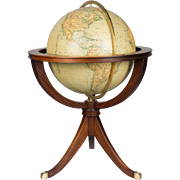 French Globe with Mahogany Stand
