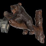 Black Forest Bear Lantern Sconce