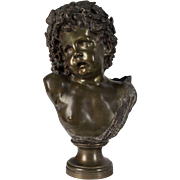 19th c. French Bronze Bust of Young Bacchus