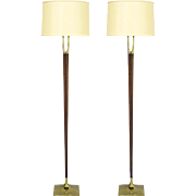 Pair of Mid-Century Laurel Floor Lamps