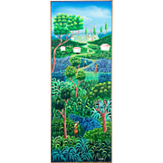 Haitian Painting by Jean St. Fleur