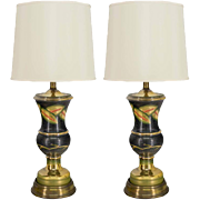 Pair of Venetian Glass Lamps