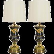 Pair of Venetian Glass Lamps