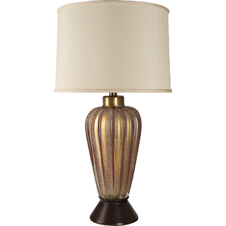 Rare Seguso Red Glass Lamp