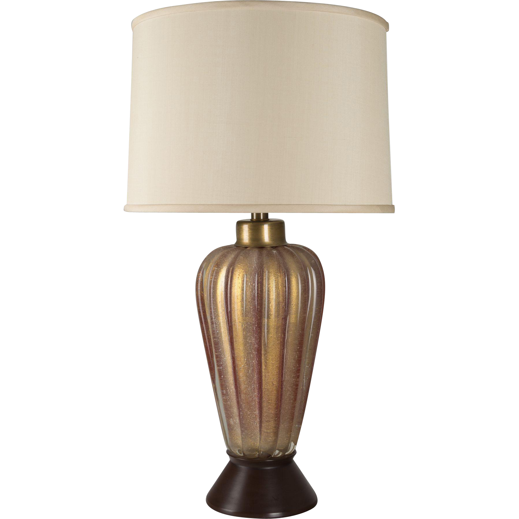 rare seguso red murano glass lamp from ofleury on ruby lane. Black Bedroom Furniture Sets. Home Design Ideas