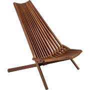 Mid Century Teak Folding Chair