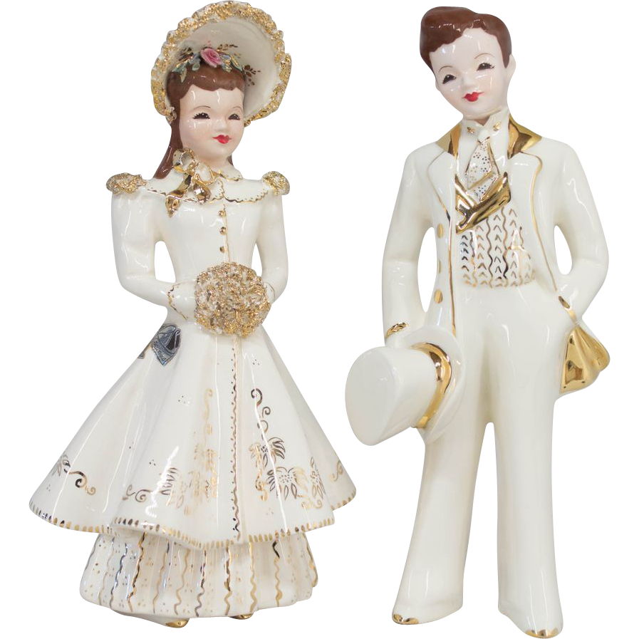 Florence Bride Groom Wedding Cake Topper
