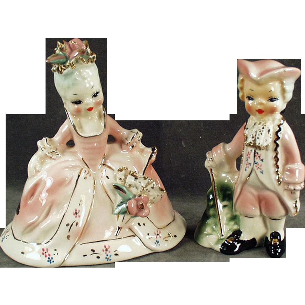 Old, Josef Original, Porcelain Figurines - Marie Antoinette & Joseph II