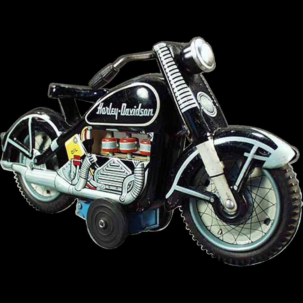 Harley Davidson Toys : Old japanese tin harley davidson motorcycle toy sold on