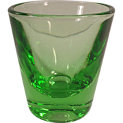 Old, Green Depression Glass, Shot Glass