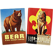 Old, Cub Scout Handbooks - Bear and Lion-Webelos, 2 Books