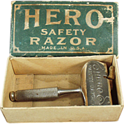 Old, Hero Safety Razor with Original Box