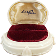 Old, Bakelite Ring Box from Zales