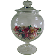 Old, Drugstore Counter Jar with Pedestal Base