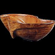 Decorative Planter- Sunkist, Wood Grained, California Pottery